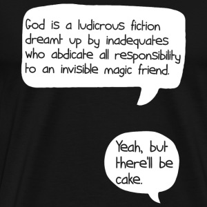 Sherlock holmes - Yeah, but there'll be cake [ve - Men's Premium T-Shirt