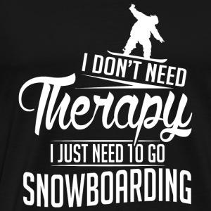 Snowboarding - Snowboarding is my therapy - Men's Premium T-Shirt