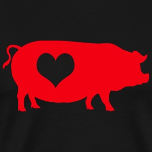 Bacon - Pig Heart Bacon - Men's Premium T-Shirt