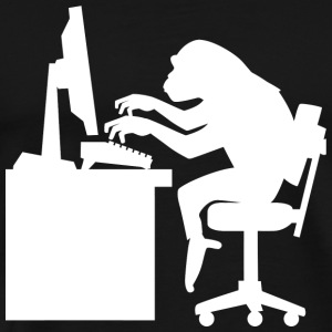 Monkey - Monkey Pounding the Keyboard - Men's Premium T-Shirt