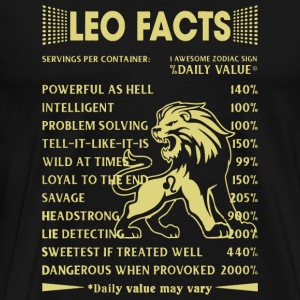 Leo - Leo Facts - Men's Premium T-Shirt