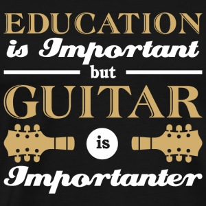 Guitar - Education Is Important But Guitar Is Im - Men's Premium T-Shirt