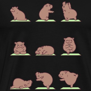 Yoga - Funny Hippo Yoga - Yoga Lover - Men's Premium T-Shirt