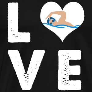 Swimming - I Heart Love Swimming - I love swimmi - Men's Premium T-Shirt