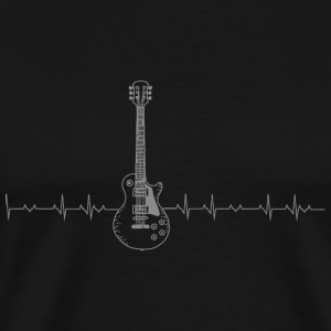 Guitar - Guitar Heartbeat - Men's Premium T-Shirt