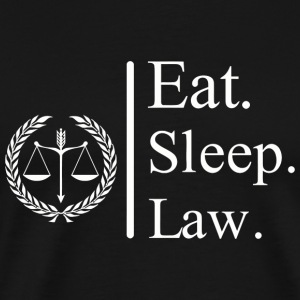 Lawyer - Eat Sleep Law Lawyer Funny Gift - Men's Premium T-Shirt