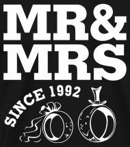 wedding 25th wedding anniversary gift m menu0027s premium tshirt - 25th Wedding Anniversary Gifts