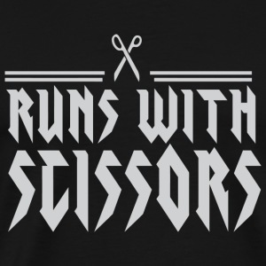 Scissors - Runs with Scissors - Men's Premium T-Shirt