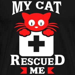 Cat - My Kitty Cat Rescued Me - Men's Premium T-Shirt