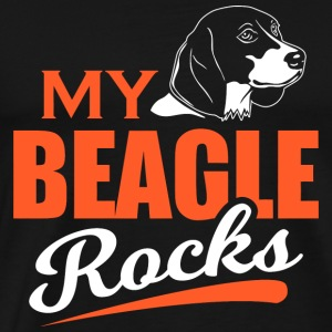 Beagle - My Beagle Rocks - Men's Premium T-Shirt