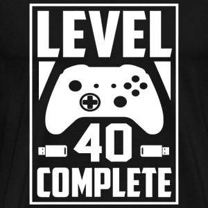 40th birthday - Level 40 Complete Video Gamer Ge - Men's Premium T-Shirt