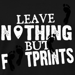 Geocacher - Leave nothing but footprints - Men's Premium T-Shirt