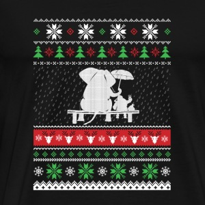 Elephant with Santa Claus - Christmas gift - Men's Premium T-Shirt