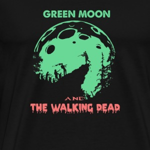 Love Green moon and the Walking Dead T shirt - Men's Premium T-Shirt