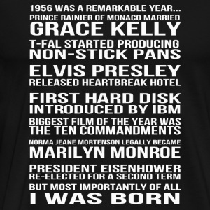 I was born in 1956 - A remarkable year - Men's Premium T-Shirt