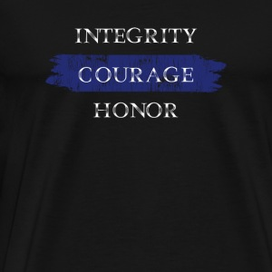 Lawenforcement Military - Integrity courage hono - Men's Premium T-Shirt