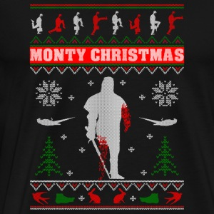 Monty Christmas to you all snowflake gildan - Men's Premium T-Shirt
