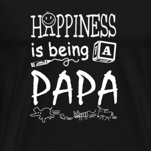 Papa - Happiness is being a papa - Men's Premium T-Shirt