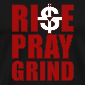 Prayer T-shirt - Rise pray grind - Men's Premium T-Shirt