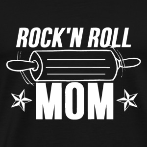 Rock and roll music - Cooking mom - Men's Premium T-Shirt