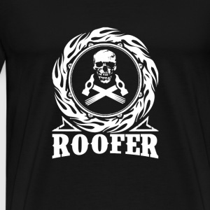 Roofer - Skull with hammers T-shirt - Men's Premium T-Shirt