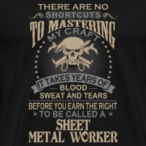 Sheet metal worker - It takes years of blood swe - Men's Premium T-Shirt