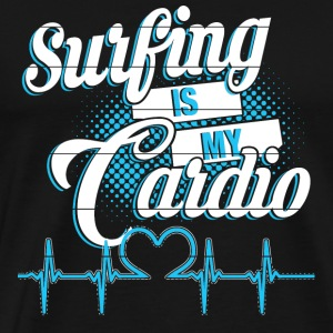 Surfer's hearbeat - Surfing is my cardio - Men's Premium T-Shirt