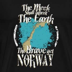 The brave get Norway - The meek inherit the eart - Men's Premium T-Shirt