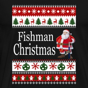 Ugly Christmas sweater for Fisherman - Men's Premium T-Shirt