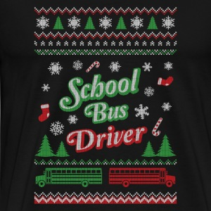 Ugly Christmas sweater for school bus driver - Men's Premium T-Shirt