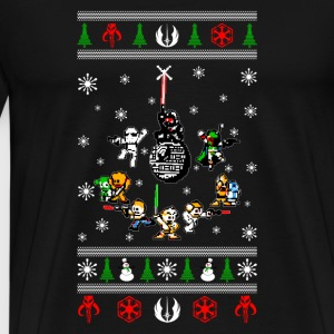 Ugly Christmas sweater for Star Wars fan - Men's Premium T-Shirt