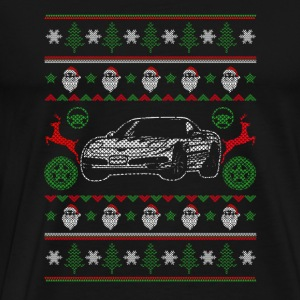 Ugly Christmas sweater for sedan lover - Men's Premium T-Shirt