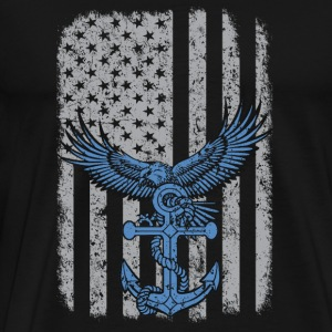 US navy - American flag T-shirt - Men's Premium T-Shirt