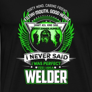 Welder Welder Dirty mind caring friend fil - Men's Premium T-Shirt