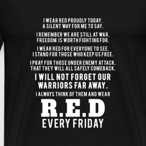Red Friday RED Friday I ll not forget our wa - Men's Premium T-Shirt