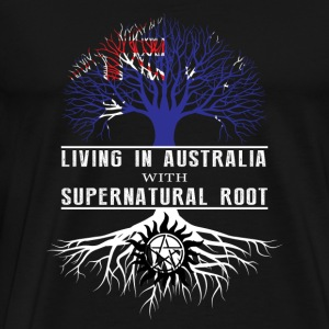 Supernatural - Living in australia with super - Men's Premium T-Shirt