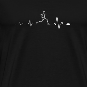 Running - Awesome running heartbeat t-shirt - Men's Premium T-Shirt