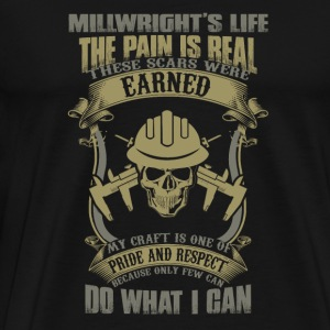 Millwright - My craft is one of pride and respec - Men's Premium T-Shirt