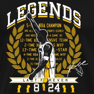 Kobe brian - Legends which last forever - Men's Premium T-Shirt