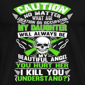 Daughter - My daughter will always be my angel - Men's Premium T-Shirt