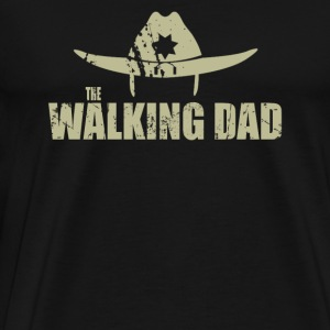 Dad - Awesome walking dad t-shirt for fans - Men's Premium T-Shirt