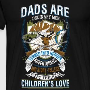 Hunter - Dads turn into heroes awesome t-shirt - Men's Premium T-Shirt