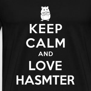 Hamster - Keep calm and love hamster - Men's Premium T-Shirt