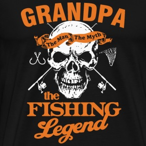 Fishing grandpa - Grandpa is the fishing legend - Men's Premium T-Shirt