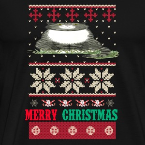 Cat- Merry meowy christmas sweater - Men's Premium T-Shirt