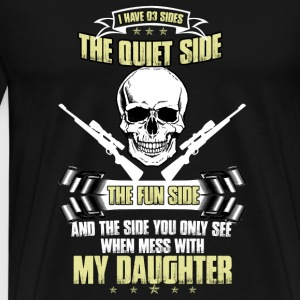 Gun - Never mess with my daughter t-shirt - Men's Premium T-Shirt