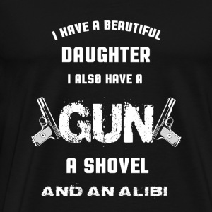 Gun - I also have a gun a shovel and an alibi - Men's Premium T-Shirt