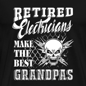 Retired electrician - retired electricians make - Men's Premium T-Shirt