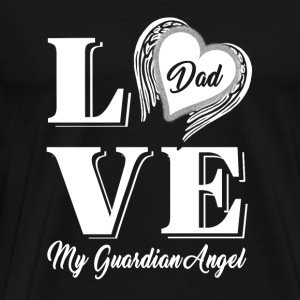 Dad - love dad my guardian angel - Men's Premium T-Shirt