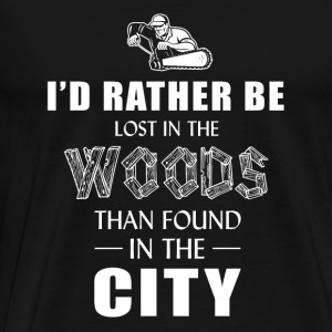 Logger - i'd rather lost in the wood than found - Men's Premium T-Shirt